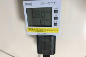 Fire TV消費電力測定(動画再生中)