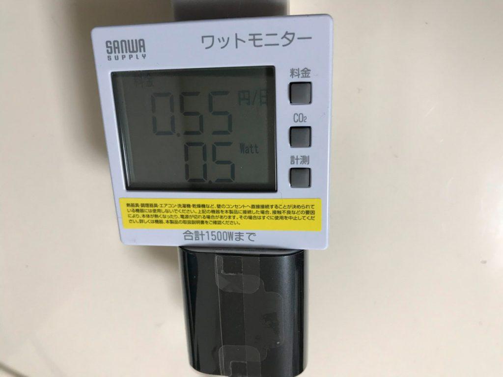 Fire TV消費電力測定(スリープ中)